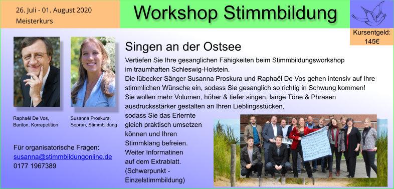 Gesangsworkshop Ostsee 1