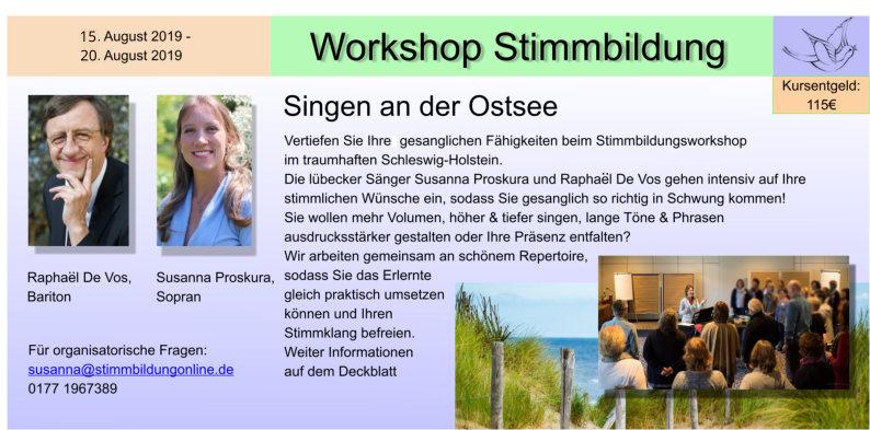 Stimmbildung Workshop Travemünde
