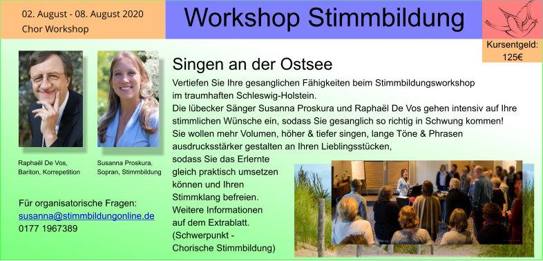 Workshop Stimmbildung an der Ostsee
